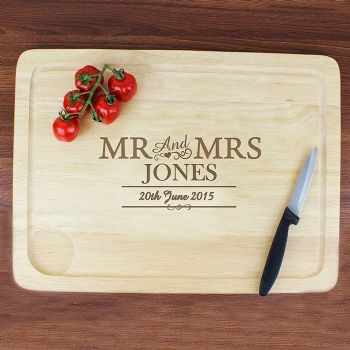 Mr & Mrs Meat Carving Board